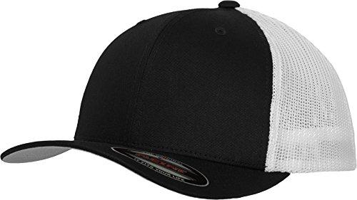 Flexfit Mesh Trucker Cap 2-Tone - Unisex Baseballcap für Damen und Herren, Farbe Black/White, L/XL