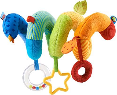 HABA 304688 - Mobile-Spirale Kunterbunt, für Babyschale und Babybett, mit vielen Elementen und Stoffen, geeignet von Geburt an