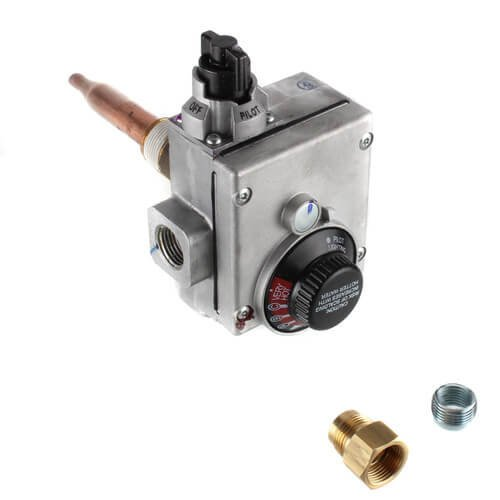 White Rodgers 37C73U172 Gas Water Heater Ctl For Nat Gas Only 1/2quot NPT Inlet 1/2quot Inv Flare Outlet