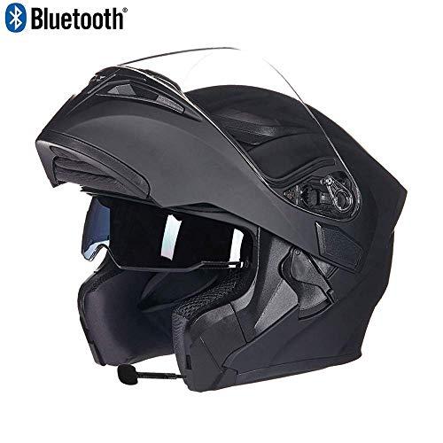 puissant CNKSKXK Casque moto Bluetooth avec casque moto Casque moto modulaire, casque moto…