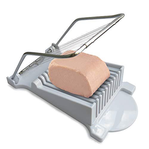 Jugetware Spam Slicer Cuts Spam, Luncheon Meat, Cheese, Boiled Eggs Ham Into 11 Neat And Equal Slices Without Mashing