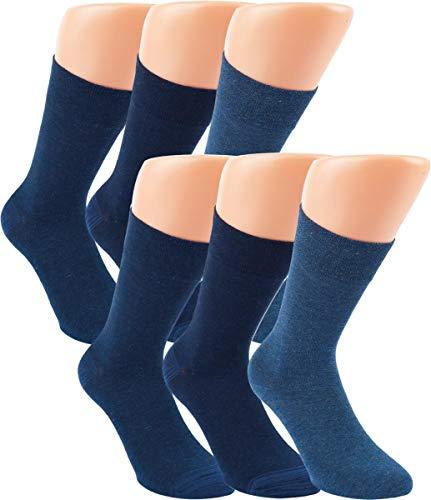 RS. Harmony   Socken & Strümpfe   Bambus Super Weich Atmungsaktiv   6 Paar   mittel-dunkel-jeans, marine-melange   39-42