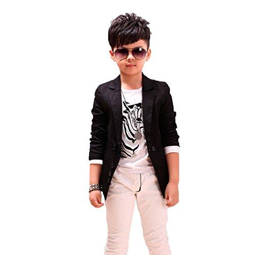GETUBACK Boys' Fashion Blazers Casual Jackets 8 Black