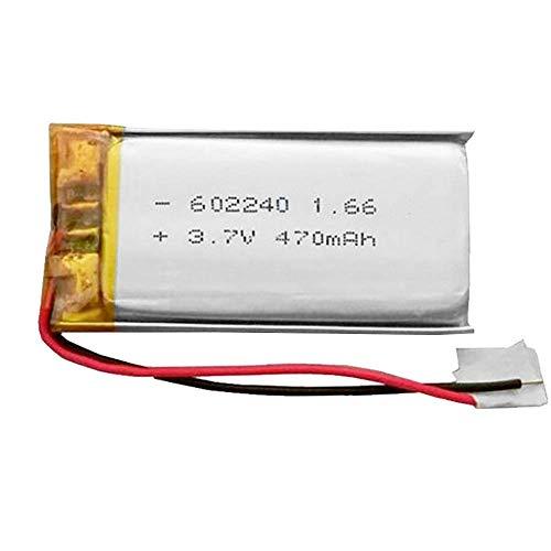 Batería 602240 LiPo 3.7V 470mAh 1.739Wh 1S 5C Liter Energy Battery para Electrónica Recargable teléfono portátil vídeo mp3 mp4 luz led GPS - No Apta para Radio Control (3.7V|470mAh|602240)