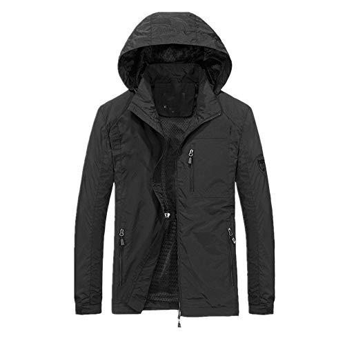 Los hombres rompevientos Chaquetas impermeable Militar con capucha a prueba de agua rompeviento casual abrigo masculino ropa