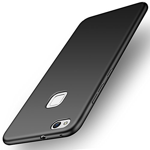 ORNARTO Funda Huawei P10 Lite, HW P10 Lite Carcasa [Ultra-Delgado] [Ligera] Mate Anti-arañazos y Antideslizante Protectora Sedoso Caso para Huawei P10 Lite(2017) Negro