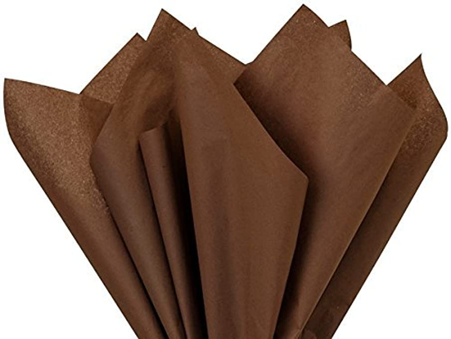 Chocolate Tissue Paper 15 Inch X 20 Inch - 100 Sheet Pack