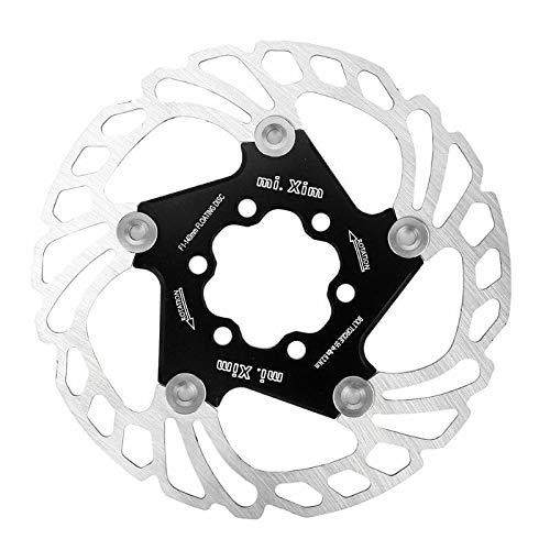 HinGu-Disc brake Rotori Freno Mountain Bike MTB Raffreddamento rapido Acciaio Inossidabile 140/203 mm Raffreddamento rapido Freno a Disco Rotore Freno Accessori Bici (Color : Black 140 F1)