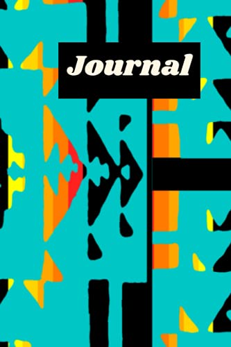 White Fire Geometric Print Personal Journal