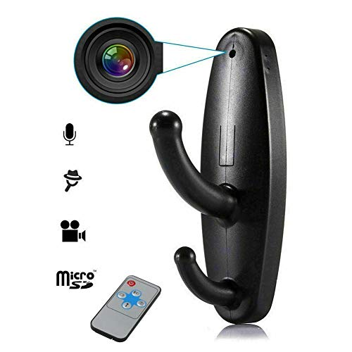 gaeruite 960P Cámaras Ocultas con detección de Movimiento Cámara con Forma de Gancho de Ropa DV DVR Grabadora de Video + Control Remoto para el hogar