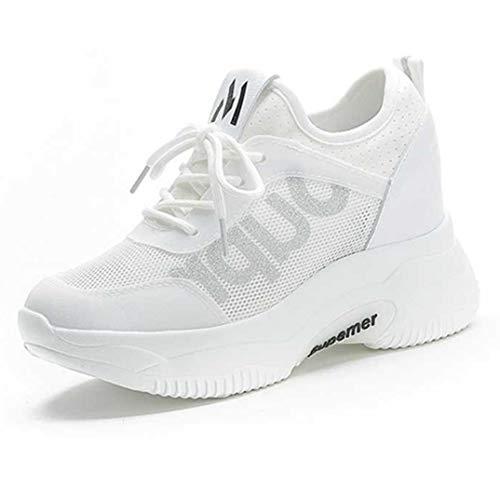 Wedge Sneakers Voor Dames Mode Zomer Mesh Chunky Causale Schoenen Veters Platform Ademend Verhoogde Interne Wandelschoenen