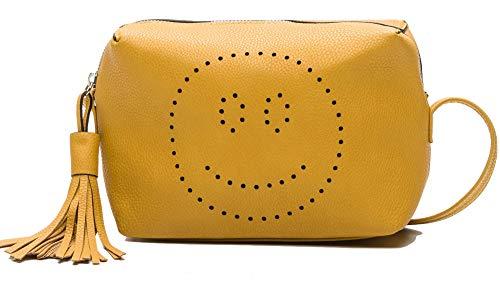 Stradivarius - Bandolera para mujer, color amarillo