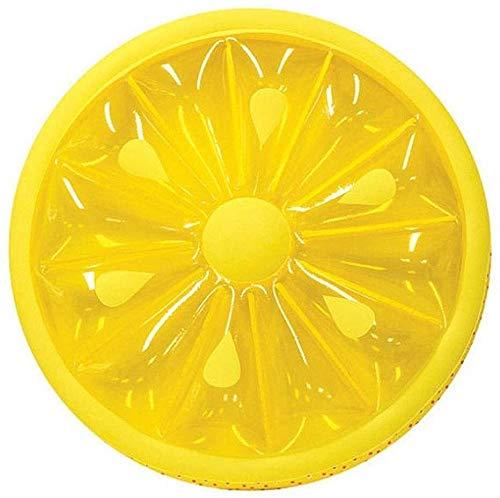 YAOHONG Klappbecken, Zitronen- Modell Aufblasbares Schwimm Reihe, Aufblasbares Schwimm Reihe, aufblasbares Wasserschwebebett, aufblasbares Kissen Sand Partyspielzeug