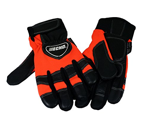 Echo 99988801601 Chainsaw Kevlar Reinforced Protective Gloves - Large. Buy it now for 32.87