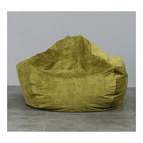 length Bean Bag Lazy Couch Tatami Asiento de Tela Individual Dormitorio Sala de Estar Transpirable Cómodo Cojín Extraíble y Lavable Pequeño Mediano Tamaño Grande (Color : Dark Green, Size : M)