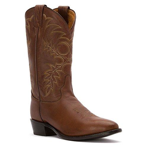 Tony Lama Mens Kango Stallion Americana Pointed Toe Western Cowboy Boots Knee High - Brown - Size 9.5 2E