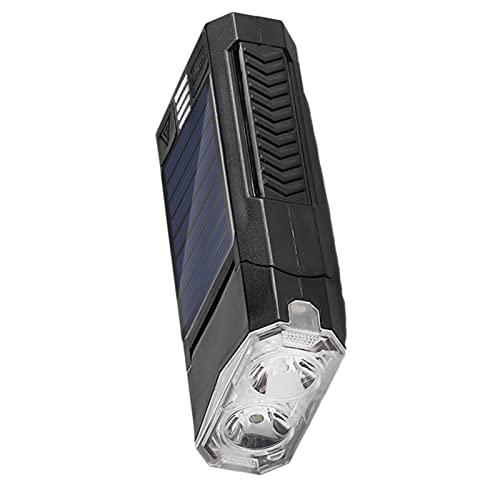 Ranana Luci Bicicletta LED Ricaricabile 2 in 1 USB/Solare Luce MTB Super Luminoso Impermeabile IPX4 Ciclismo Set Fanalini Anteriori Posteriori Bicicletta Strada E Montagna 4000/2000 mAh graceful