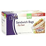 Nicole Home Collection Zip Seal Sandwich Pack of 150 Food Storage Bags, 150 Pieces