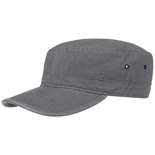 Lipodo Army Cap Damen/Herren - Cap aus 100% Baumwolle - Schirmmütze Einheitsgröße (55-61 cm) - Armycap Grau