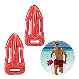 Relaxdays Pack 2 Boyas Inflables para Disfraz o Decoración, Plástico, Rojo, 7 x 30 x 64 cm