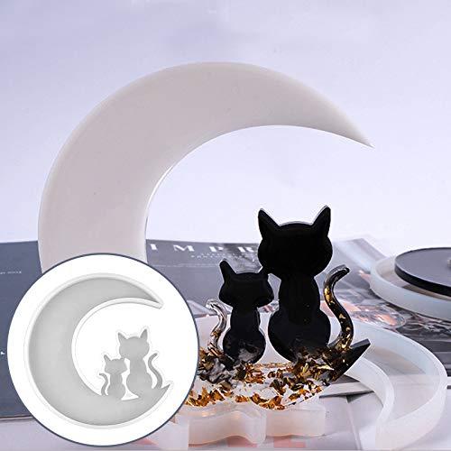 Corlidea Kit de pegamento epoxi de cristal para pulsera con colgante de silicona, forma de gato