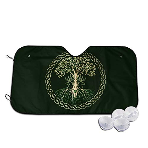 Celtic Ritual Norse Nordic Viking Goddess Wiccan Wicca Themed Interior Windshield Sun Shade Cover Summer Car Windows Visor Kit Ornament Decor Outdoor Vehicle Accessories Sunshade Auto For Women Men