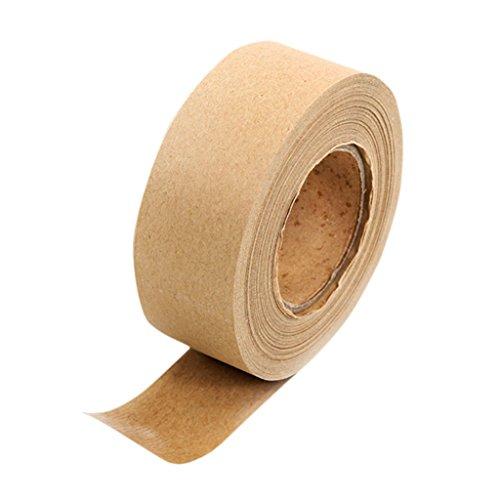 RROVE Cinta de Papel Kraft Cinta Adhesiva marrón para enmarcar y sellar Cajas de 36 mm de Ancho x 45 m de Largo