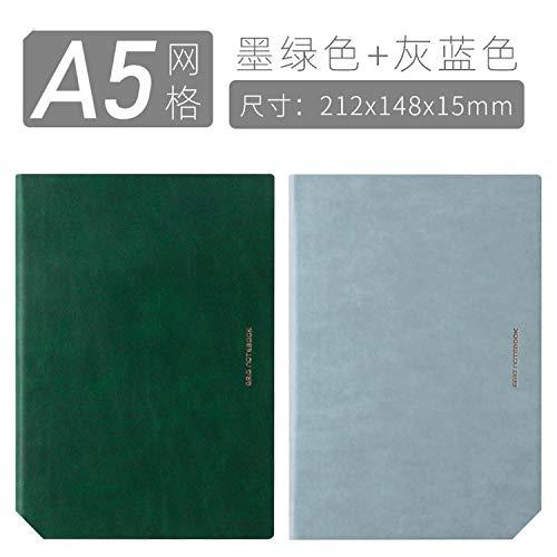 Cuaderno de estilo simple para estudiantes universitarios a5 enrejado engrosado b5 cuaderno...