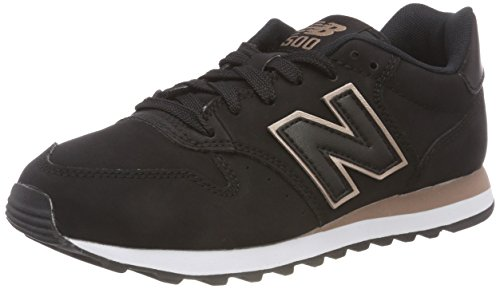 New Balance 500, Baskets Femme, Noir Black Rose Gold Br Black, 36.5 EU
