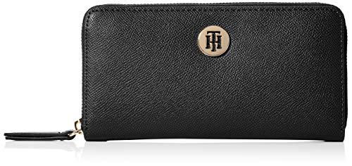 Tommy Hilfiger Damen Classic Saffiano Lrg Za Wallet Geldbörse, Schwarz (Black), 2.3x10x19 centimeters (W x H x L)