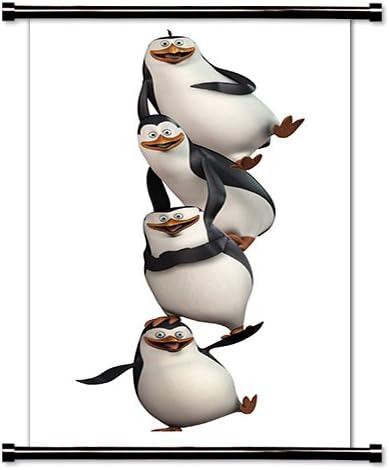 Amazon Com Los Pingüinos De Madagascar Serie De Televisión Animada Tela Póster De Desplazamiento De Pared 16 X 33 Pulgadas Home Kitchen