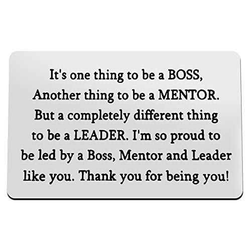 Boss Wallet Insert Card Boss Appreciation Gifts Thank You Gifts for Leader...
