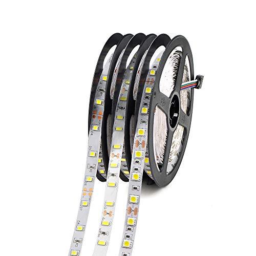 5M SMD 2835 5050 Tira LED RGB impermeable 60LEDs / M DC12V Cadena de luz LED Flexible Cinta de cinta Lámpara de decoración del hogar-RGB_5050 SMD NO impermeable