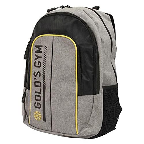 Gold's Gym UK GGBAG127 Unisex Contrast Rucksack Workout Training Backpack Bag, Grey Marl/Black, One Size