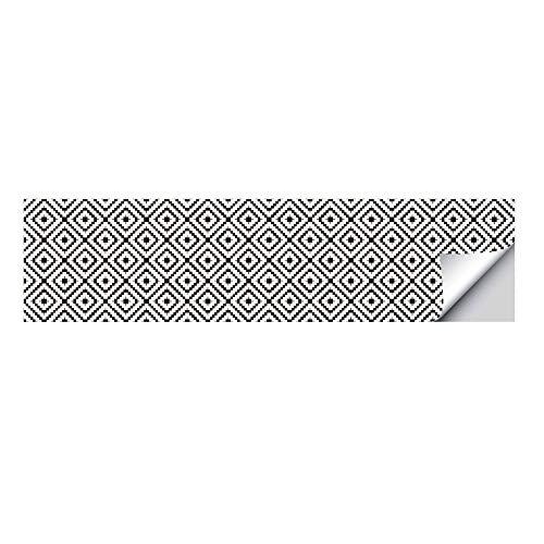 Azulejos de cocina, pegatinas de escalera con patrón de alfombra de diamante artificial en blanco y negro, pegatinas de suelo antideslizantes para el hogar, pegatinas de escalera, pegatinas de escalón