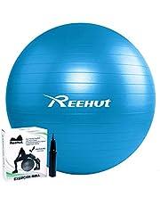 REEHUT Gymnastiekbal, zitbal, yogabal, pilatesbal, fitnessbal, anti-barst incl. pomp met belastbaarheid tot 500 kg, core-training fitness