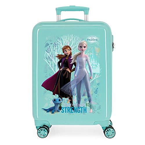 Disney Frozen Find Your Strenght Maleta de Cabina Azul 38x55x20 cms Rígida ABS Cierre combinación 34L 2,6Kgs 4 Ruedas Dobles Equipaje de Mano