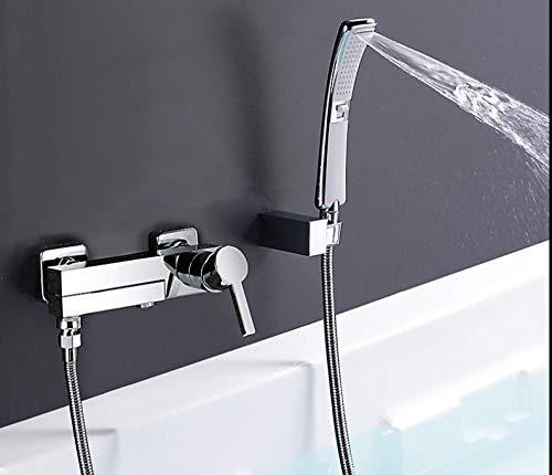 Griferia Chroom messing douchearmatuur badkamermengkraan waterval met handdouche set A