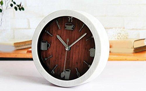 Longless houten wekker bureau stil 12CM