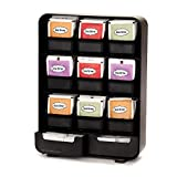 Mind Reader 9 Removable Drawers Tea Bag holder and Condiment Organizer, Black