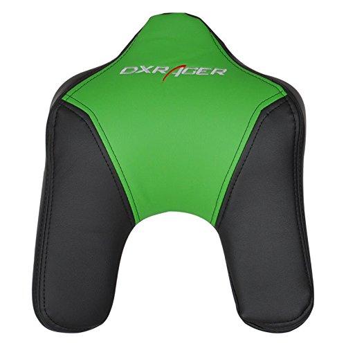 Preisvergleich Produktbild DXRacer Kopfkissen,  Kunstleder,  u-Form Schwarz / Grün