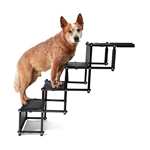 PiuPet® Rampa para Perros Grandes y pequeños - Cargable hasta 80 kg - Utilizable para Todos los vehículos - Escaleras para Perros Plegables