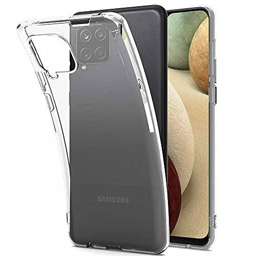 NEW'C Hülle für Samsung Galaxy A12 [Ultra transparent Silikon Gel TPU Soft] Cover Hülle Schutzhülle Kratzfeste mit Schock Absorption & Anti Scratch kompatibel Samsung Galaxy A12