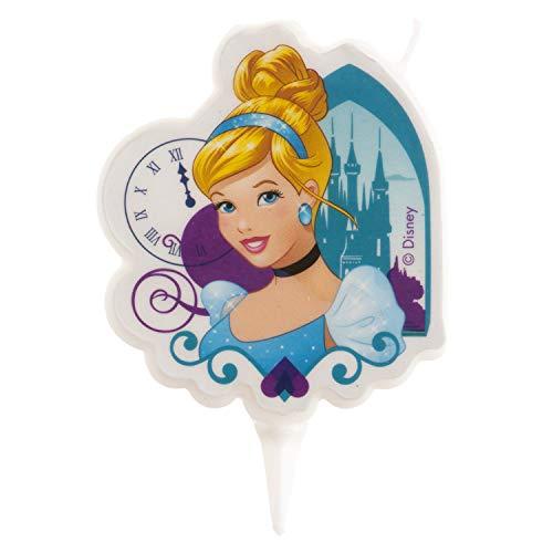 Dekora - Vela de Cumpleaños 2D de Cenicienta para Tartas Infantiles - 7,5 cm