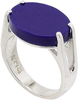 خاتم فضة استرليني ملكي بحجر ازرق للرجال من عتيق
