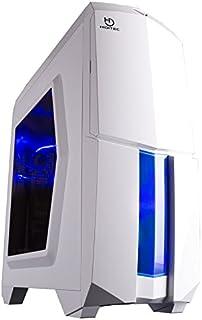 Hiditec NG-X1 BLACK - Caja de ordenador, Micro ATX - ITX, 3 ventiladores de 120mm, estructura acero y plástico, gráficas hasta 345mm, 486mm x 200mm x 447mm, color blanco