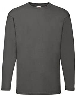 a317e0fc2ecd1 Fruit of the Loom Mens Valueweight Crew Neck Long Sleeve T-Shirt (3XL)