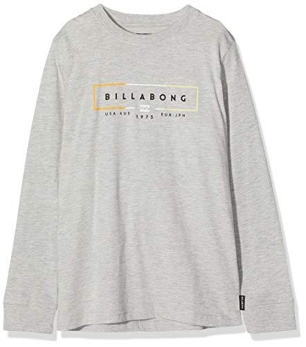 BILLABONG Unity LS tee Boy Camiseta, Gris (Grey Heather 9), One Size (Tamaño del Fabricante: 14) para Niños