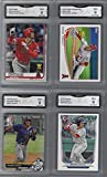SHOHEI OHTANI & MIKE TROUT ROOKIE CUP MOOKIE BETTS FERNANDO TATIS JR. BOWMAN 4 CARD ROOKIE LOT GRADED MINT 9 SUPERSTAR PLAYERS. rookie card picture