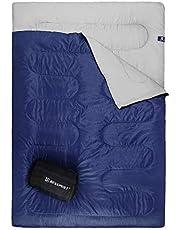 Bessport Slaapzak, waterdichte dekenslaapzak voor 1 en 2 personen, lichte zomerslaapzak voor volwassenen, outdoor en indoor te gebruiken